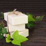 Stack of Natural Ingredients Soap Royalty Free Stock Photography