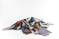 Stack of neckties Royalty Free Stock Image