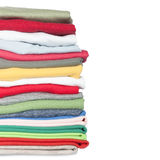 Stack of new colorful clothes Stock Photography