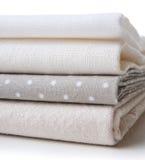 Stack of new fabrics Royalty Free Stock Photos