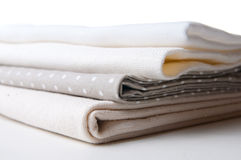 Stack of new fabrics Royalty Free Stock Photos