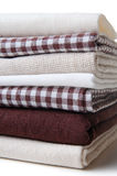 Stack of new fabrics Royalty Free Stock Images