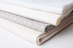 Stack of new fabrics Royalty Free Stock Image