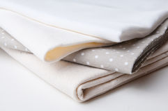 Stack of new fabrics Stock Photography