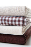 Stack of new fabrics Royalty Free Stock Photography