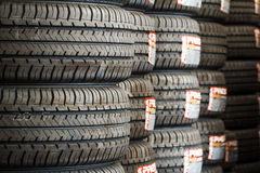 Stack of new tires Royalty Free Stock Photography