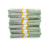 Stack of new US dollars 2013 edition bills Royalty Free Stock Photos