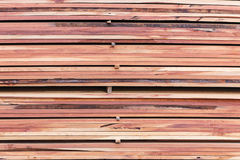 Stack of new wooden Stock Image