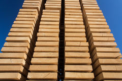 Stack of new wooden studs Stock Photo