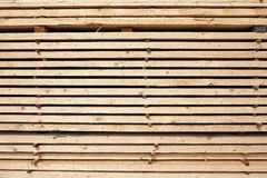 Stack of new wooden studs at the lumber yard Royalty Free Stock Image