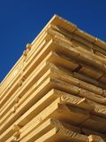 Stack of new wooden studs Royalty Free Stock Photos