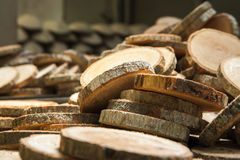 Wood. Stack of new wooden studs with sunlight Royalty Free Stock Photo