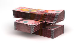 Stack of New Zealand Dollar Stock Photo
