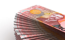 Stack of New Zealand Dollar Royalty Free Stock Image