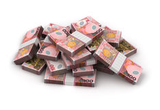 Stack of New Zealand Dollar Stock Photography