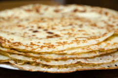 Stack of newly made pancakes Stock Photos