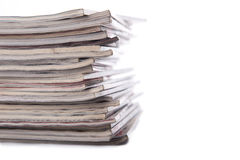 Stack of news paper Stock Photos