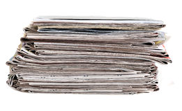 Stack of newspaper Stock Photography