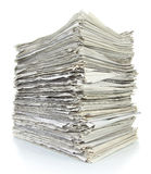 Stack of newspaper Royalty Free Stock Image