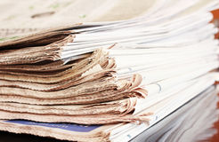 Stack of Newspaper Royalty Free Stock Photography