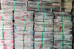 Stack of newspaper Royalty Free Stock Photo