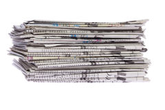 Stack of newspapers Royalty Free Stock Photos