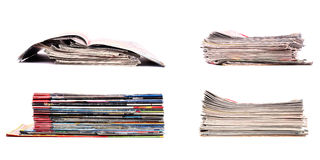 Stack of newspapers Stock Photos