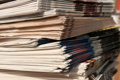 Stack of newspapers. As background Royalty Free Stock Images