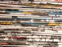 Stack of newspapers 2 Royalty Free Stock Photography
