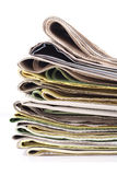 Stack of newspapers Stock Photography