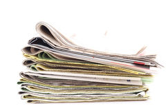 Stack of newspapers Royalty Free Stock Image