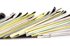 Stack of newspapers Royalty Free Stock Photography