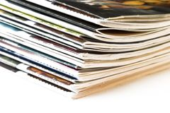 Stack of newspapers Stock Image