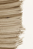Stack of the newspapers Royalty Free Stock Images