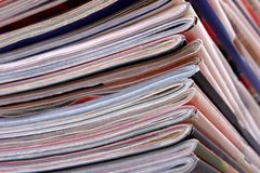 Stack of the newspapers Stock Images