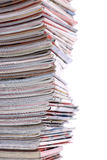Stack of the newspapers Royalty Free Stock Photography