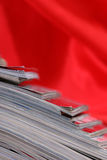 Stack of the newspapers Stock Image