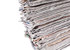 Stack of daily newspapers Royalty Free Stock Photos