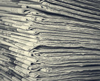 Stack of daily newspapers Royalty Free Stock Photography