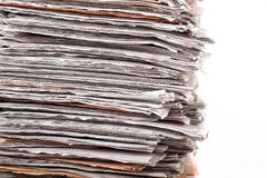 Stack of daily newspapers Stock Image