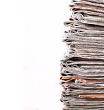 Stack of daily newspapers Stock Images