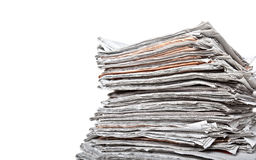 Stack of daily newspapers Royalty Free Stock Images