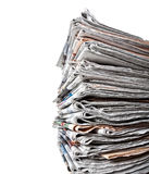 Stack of daily newspapers. Background Stock Photography