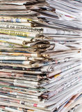 Stack of newspapers. A background of old newspapers Royalty Free Stock Image