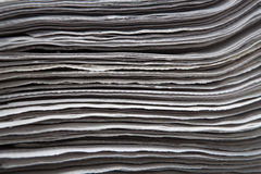 Stack of newspapers closeup Stock Photo