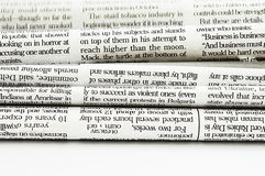 Stack of newspapers Royalty Free Stock Images