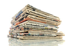 Stack on newspapers Royalty Free Stock Photo