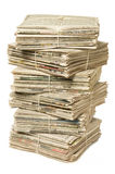 Stack of newspapers for recycling Royalty Free Stock Image