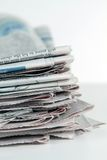 Stack Of Newspapers Vertical Stock Photos