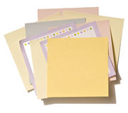 Stack of Nine Post-It Notes Royalty Free Stock Photos